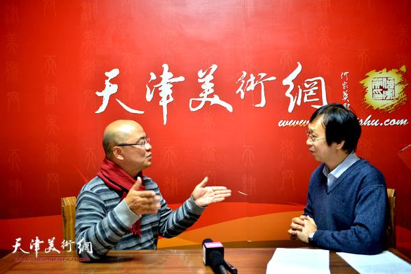 天津美术学院教授于小冬做客天津美术网