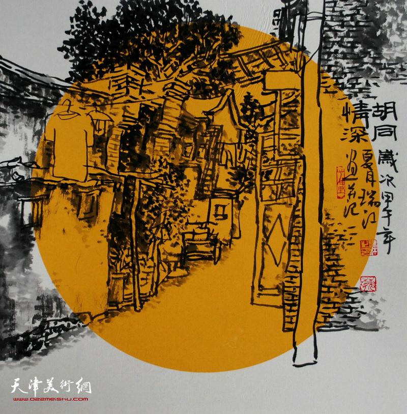 魏瑞江水墨:电线杆背后藏着童年