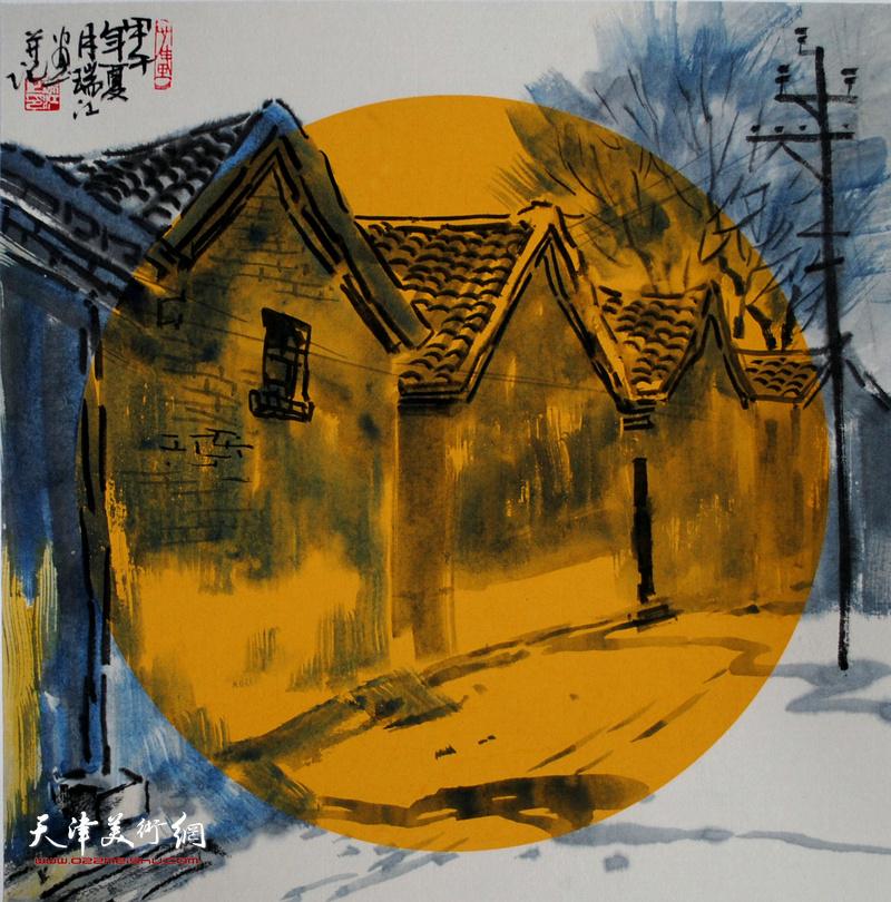 魏瑞江水墨:明月照见故乡
