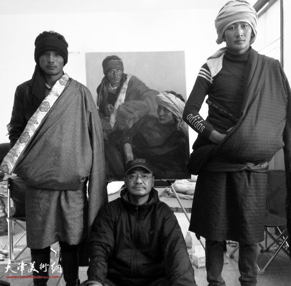 于小冬在藏区写生