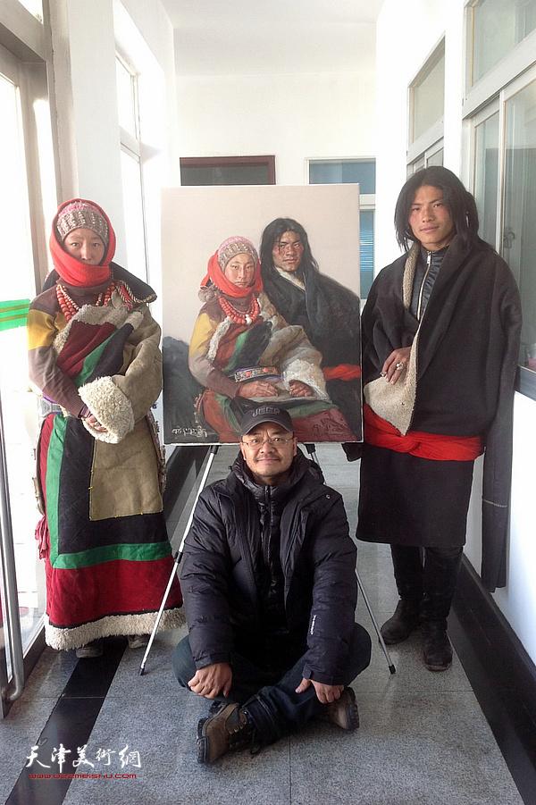 于小冬在西藏写生