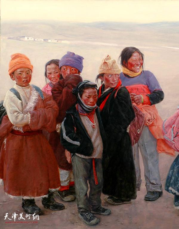 于小冬作品:《阿日扎的小学生》(局部)