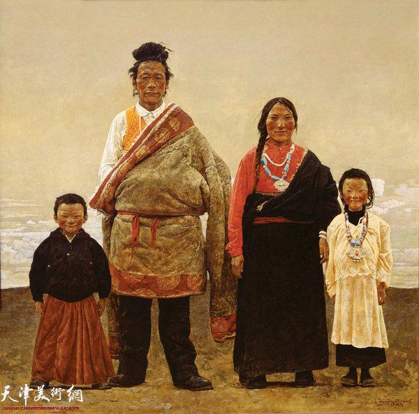 于小冬作品:《宁玛僧人一家》