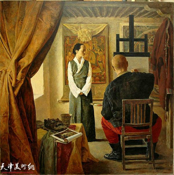 于小冬作品:《画室——维梅尔构图》