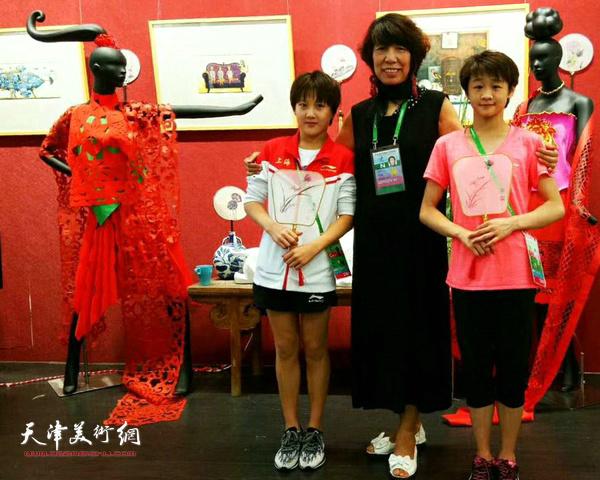 吕爱茹在天津举办的第十三届全运会上。