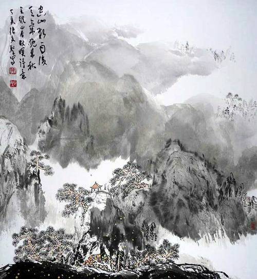张文圣作品:空山新雨