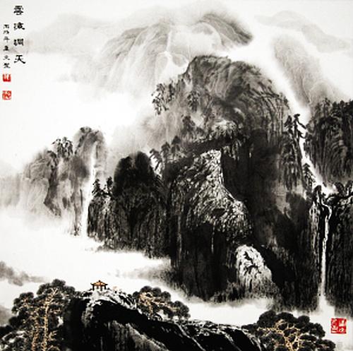 张文圣作品:云海洞天