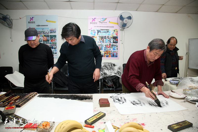 书画家走进天津嘉信国旅