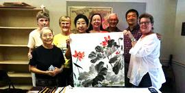 南开大学张永敬教授赴美佛罗里达州举办花鸟画展