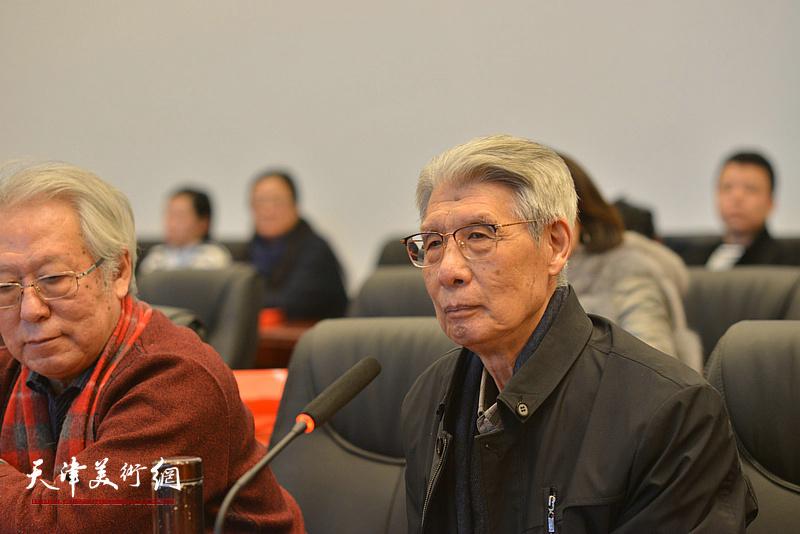杨德树在孙其峰先生书画艺术学术研讨会现场。