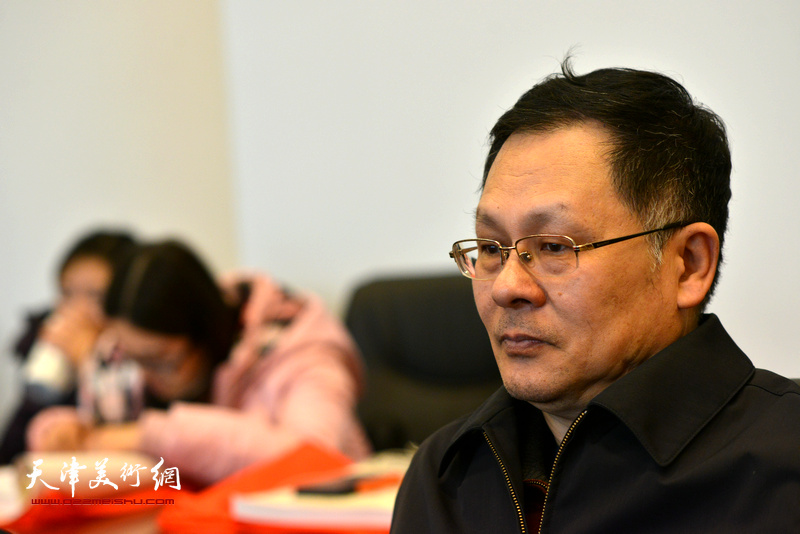 潘津生在孙其峰先生书画艺术学术研讨会现场。