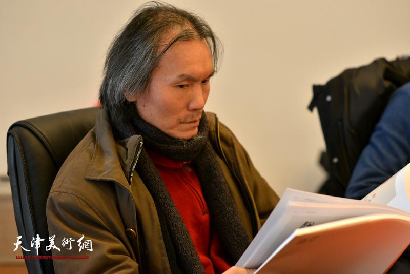 郭雅希在孙其峰先生书画艺术学术研讨会现场。