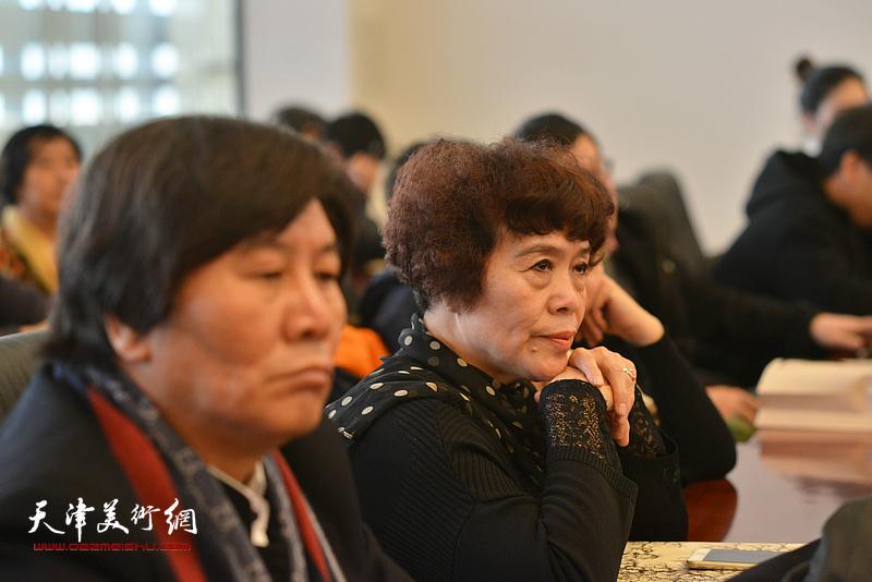 史玉在孙其峰先生书画艺术学术研讨会现场。