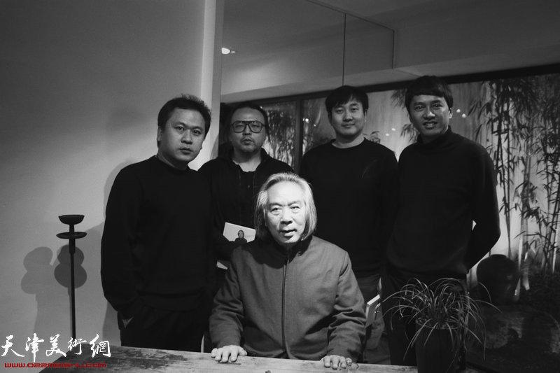 霍春阳与霍岩、朱国惠等在竹间书院