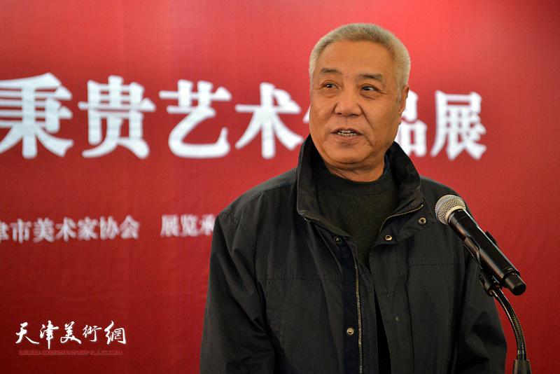 原天津美术学院院长姜陆致辞。