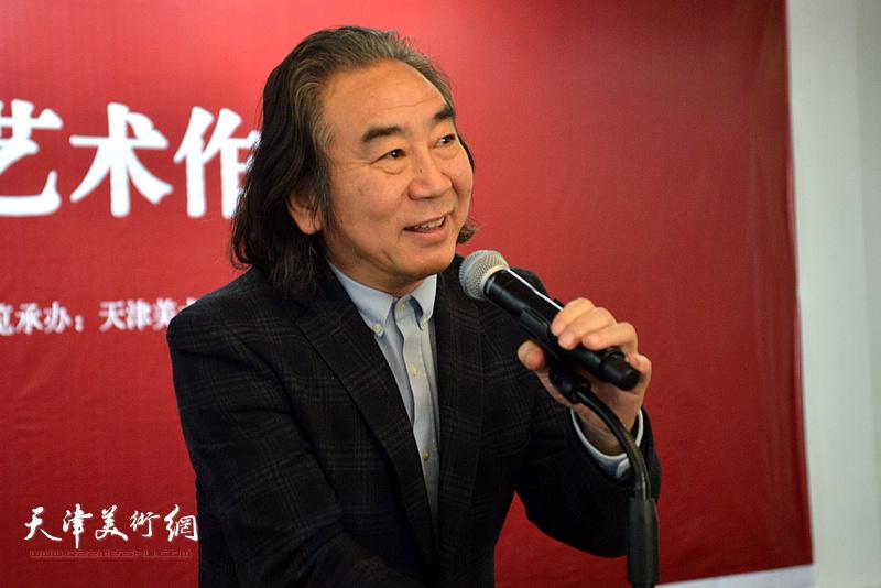天津美术学院油画系主任、油画家王小杰致辞。