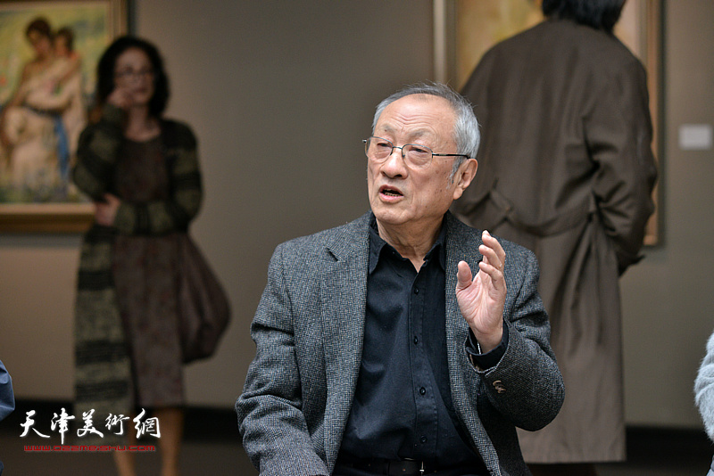 张京生在边秉贵艺术追思会上发言。