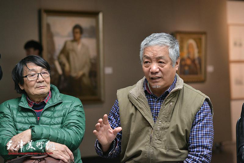 孙建平在边秉贵艺术追思会上发言。