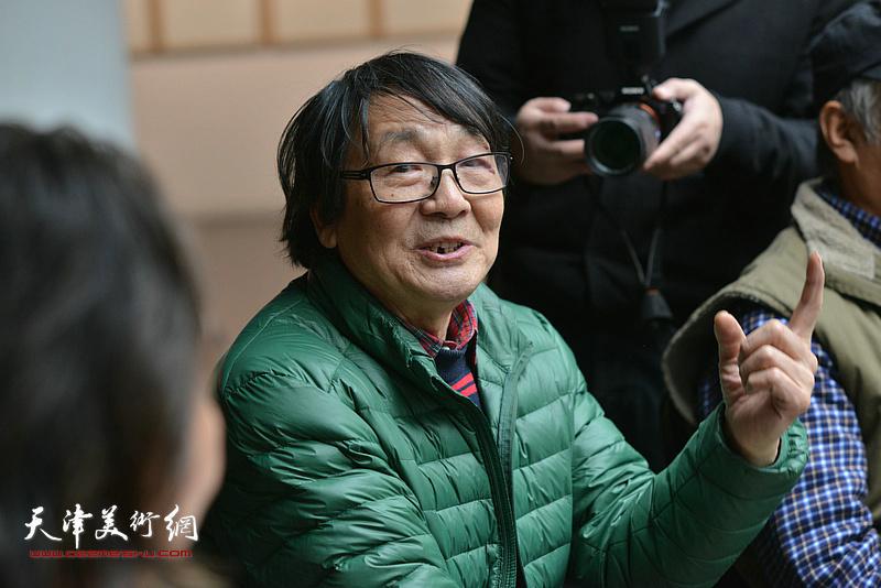 张胜在边秉贵艺术追思会上发言。