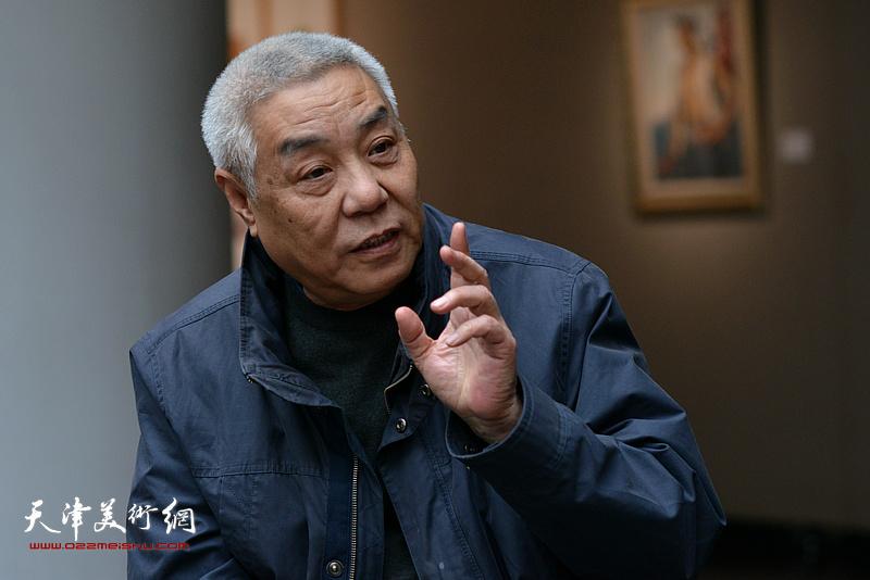 姜陆在边秉贵艺术追思会上发言。