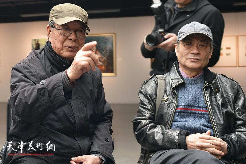 郭占魁在边秉贵艺术追思会上发言。