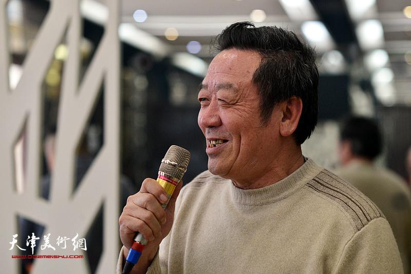 吴恩海在边秉贵艺术追思会上发言。