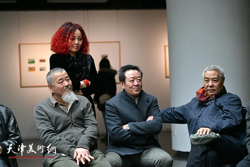 左起:姚铁正、边静、吴恩海、姜陆在边秉贵艺术追思会上。