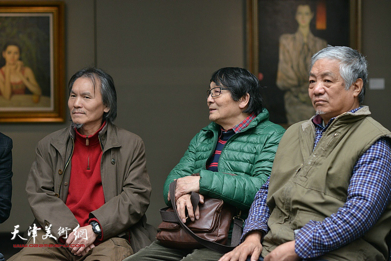 左起:郭雅希、张胜、孙建平在边秉贵艺术追思会上。