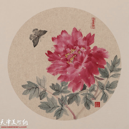 张春蕾花鸟画作品 (圆光)