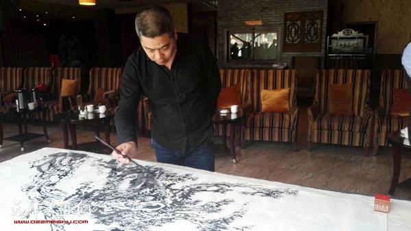 杨勇在艺术交流活动现场。