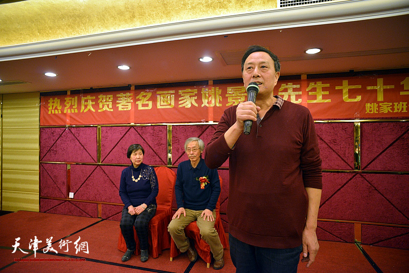 学生代表张玉明在活动现场致辞。