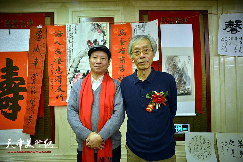 姚景卿与张建华在活动现场。
