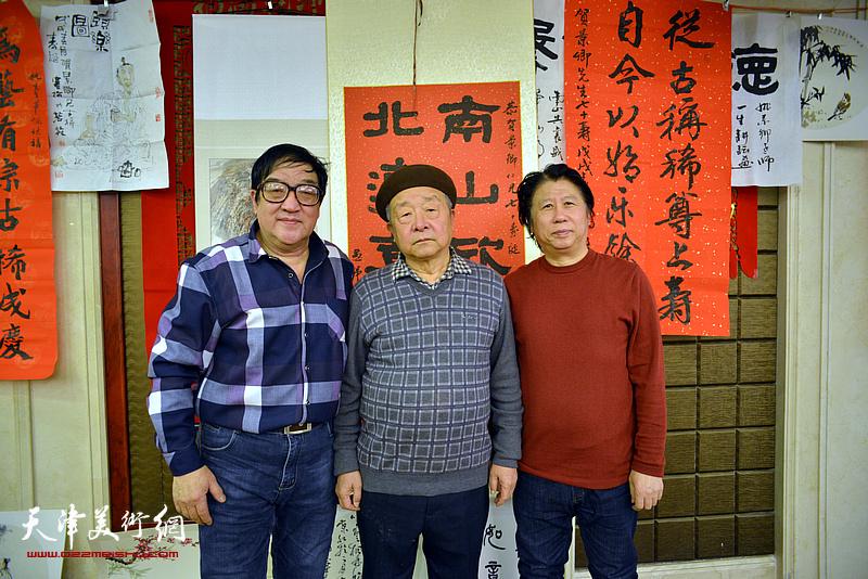 况瑞峰、卢贵友、李学亮在活动现场。