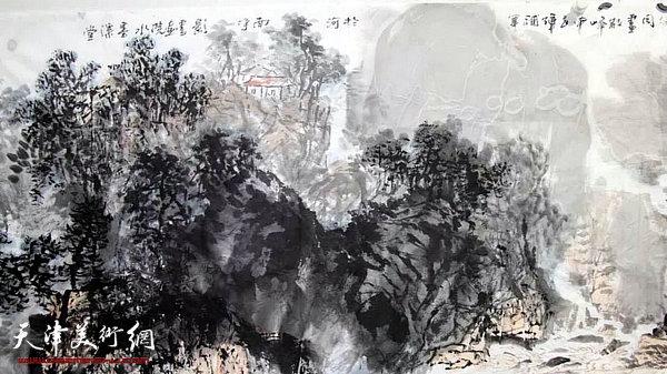 申世辉泼墨散锋大写意山水画讲座在河南焦作举行