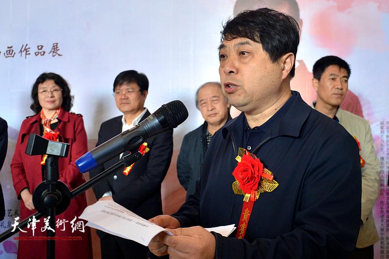 礼泉县委常委、宣传部长张永忠致欢迎词。