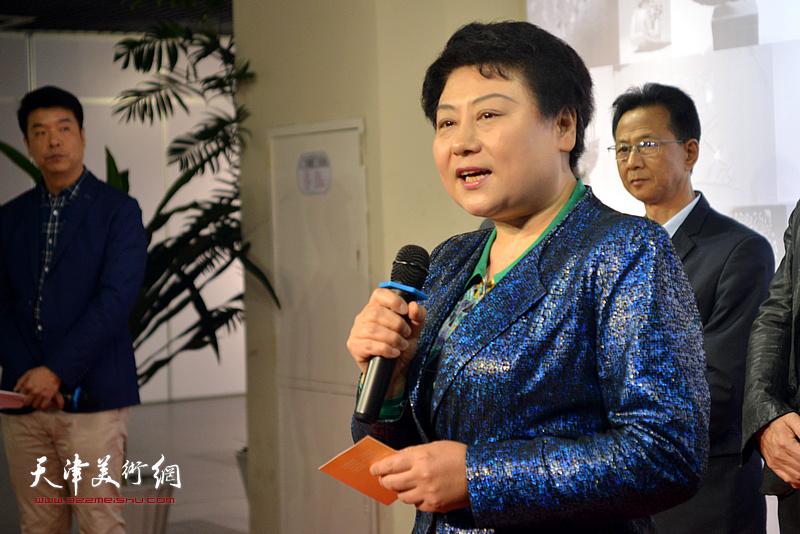 天津空港经济文化中心副主任王萍致辞。