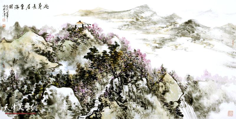 姜金军作品:此身长居云海图