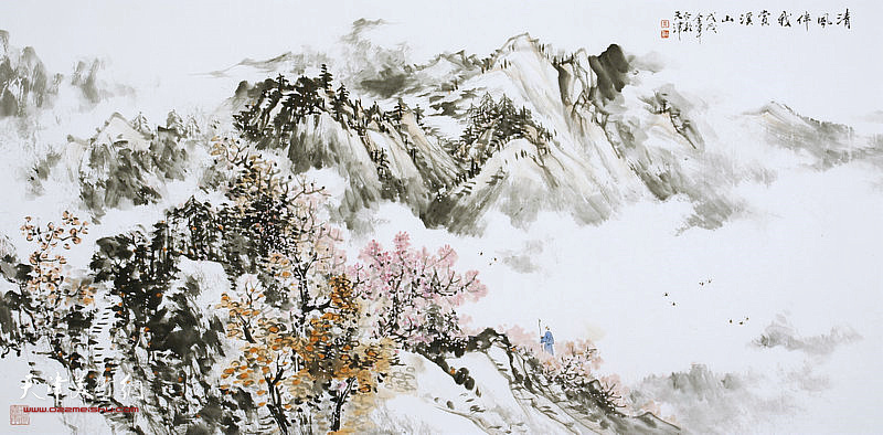 姜金军作品:清风伴我赏溪山