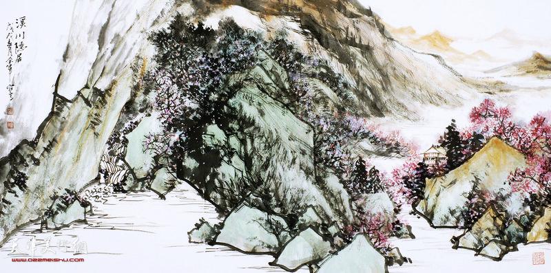 姜金军作品:溪川隐居