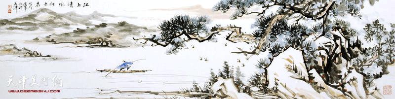 姜金军作品:江上清风任去来