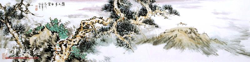 姜金军作品:岭上多白云