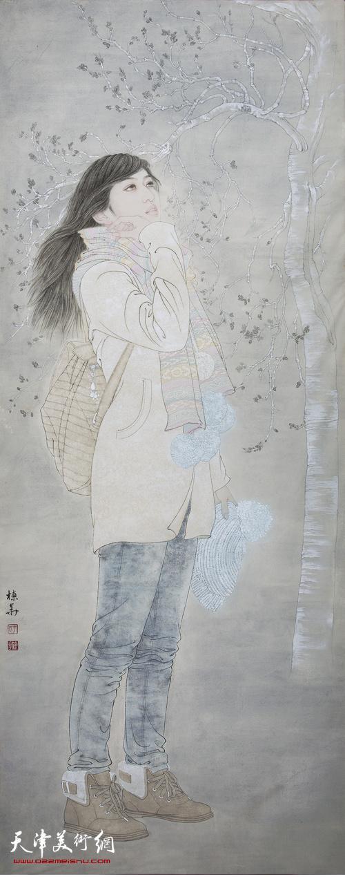于栋华作品:《春尤寒》 100x240cm 于栋华 2013年