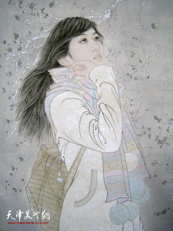 《春尤寒》局部 100x240 cm于栋华 2013年  纸本水墨