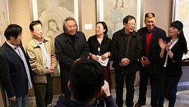华彩文心—于栋华人物画作品展在鼎天美术公馆开幕