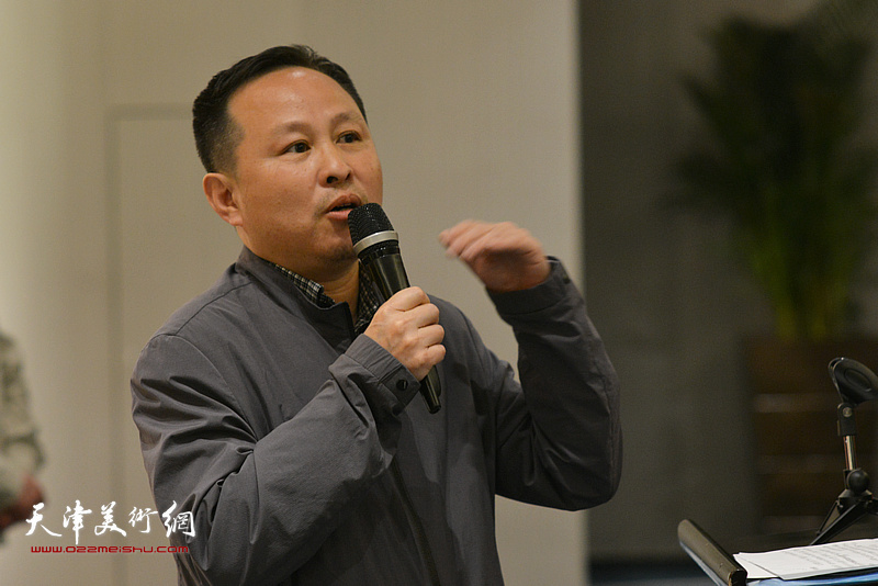 艺术家张立涛先生致辞。