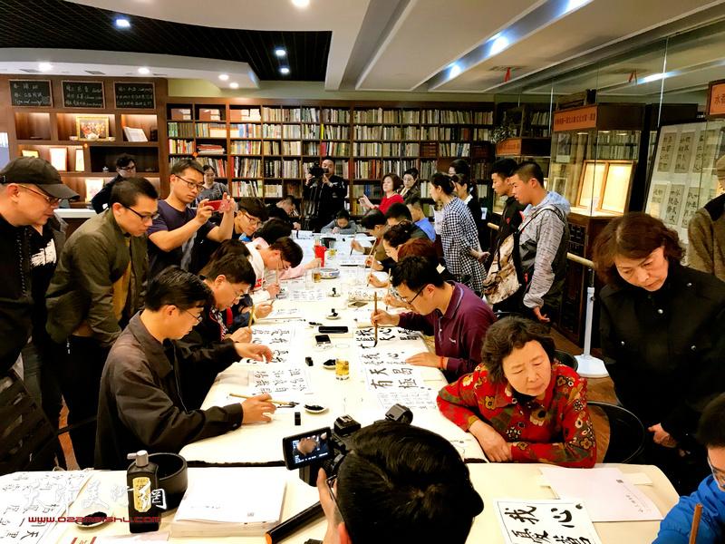 水香洲书院举办龚望先生临帖作品展 邀请书法家现场示范指导临帖