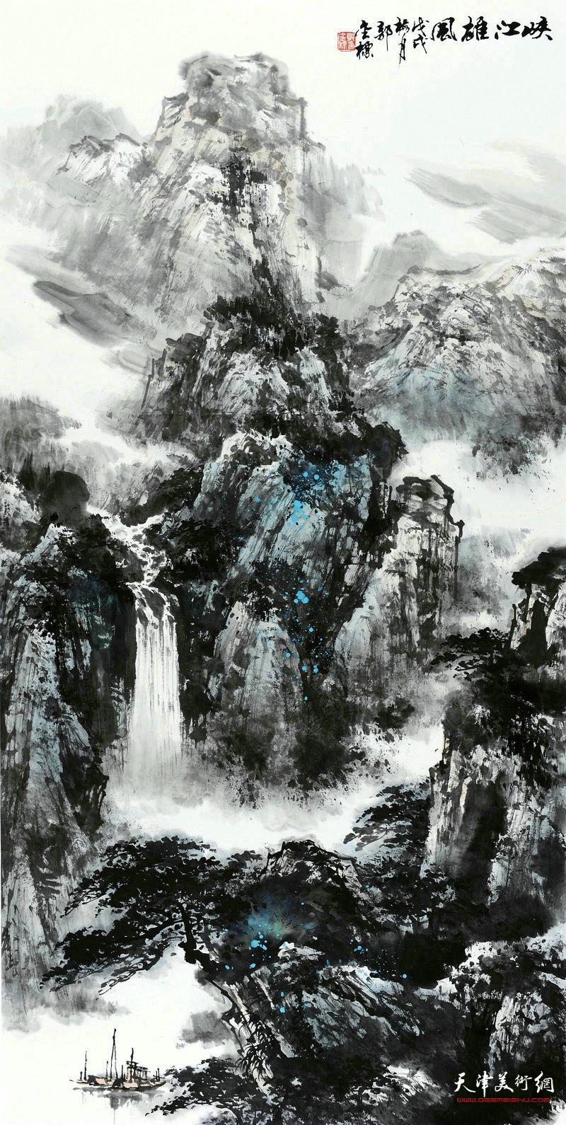 郭金标-峡江雄风68x138cm
