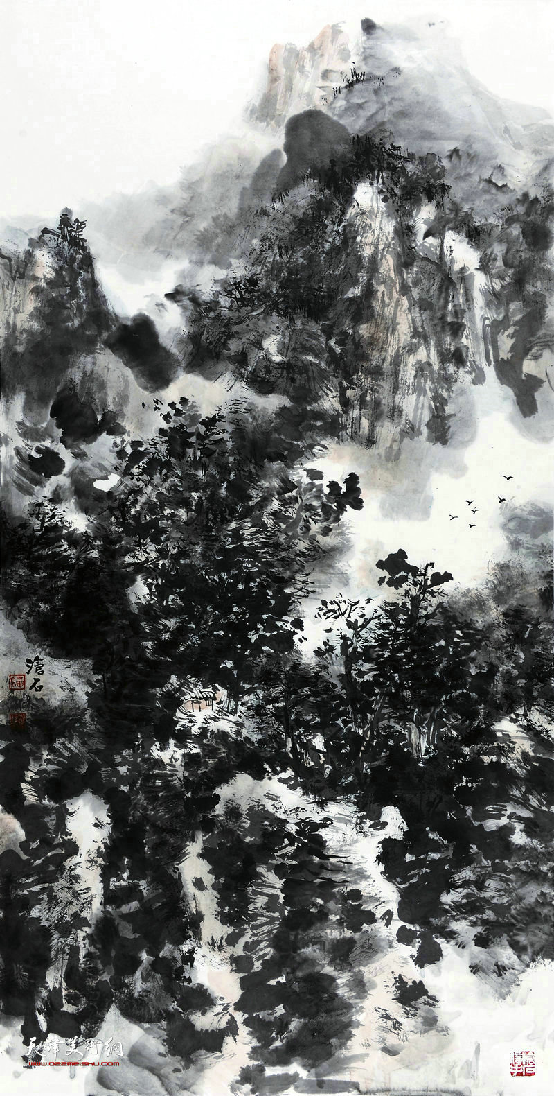 刘凤棋-山水68x138cm