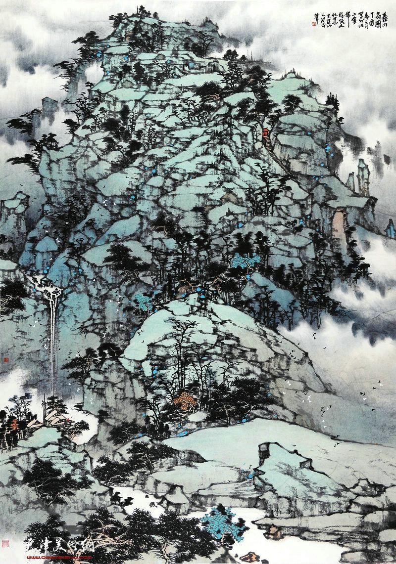 董铁山-泰山高图96x136cm