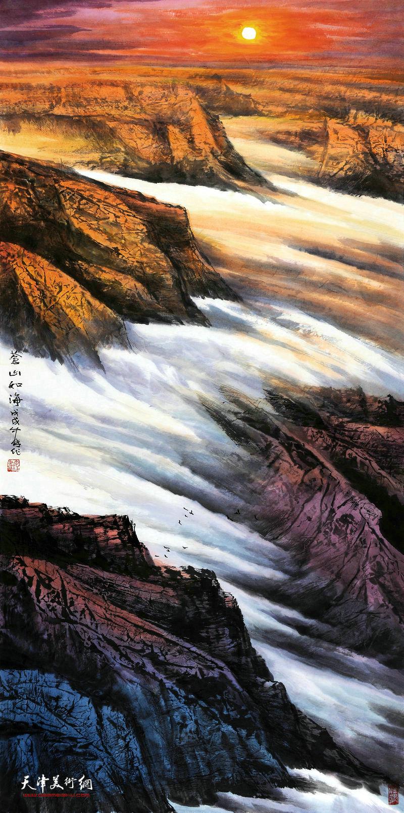 向中林-苍山如海68x138cm